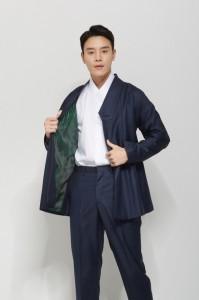 Blue Yeomim-git Short Jacket