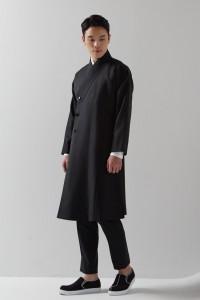 [Jtbc이태원클라쓰] 블랙 여밈깃 두루마기 코트